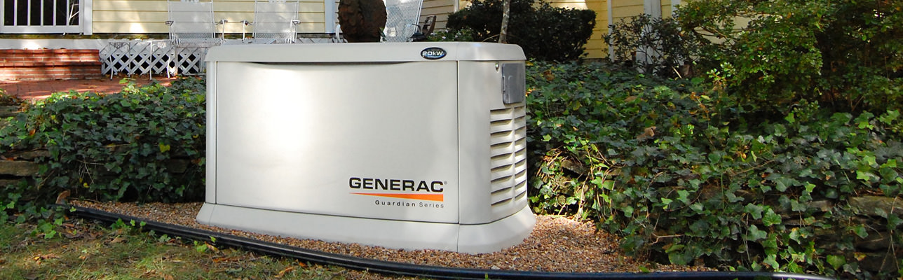 generac guardian series automatic generator installed